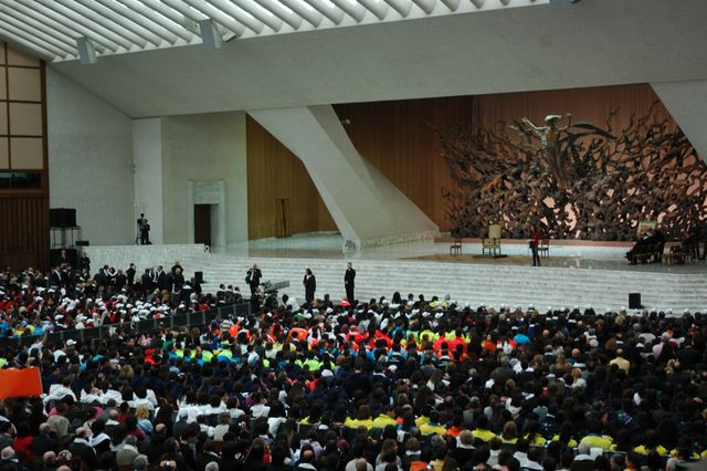 Il Presidente Bellini all'Udienza Generale del Santo Padre